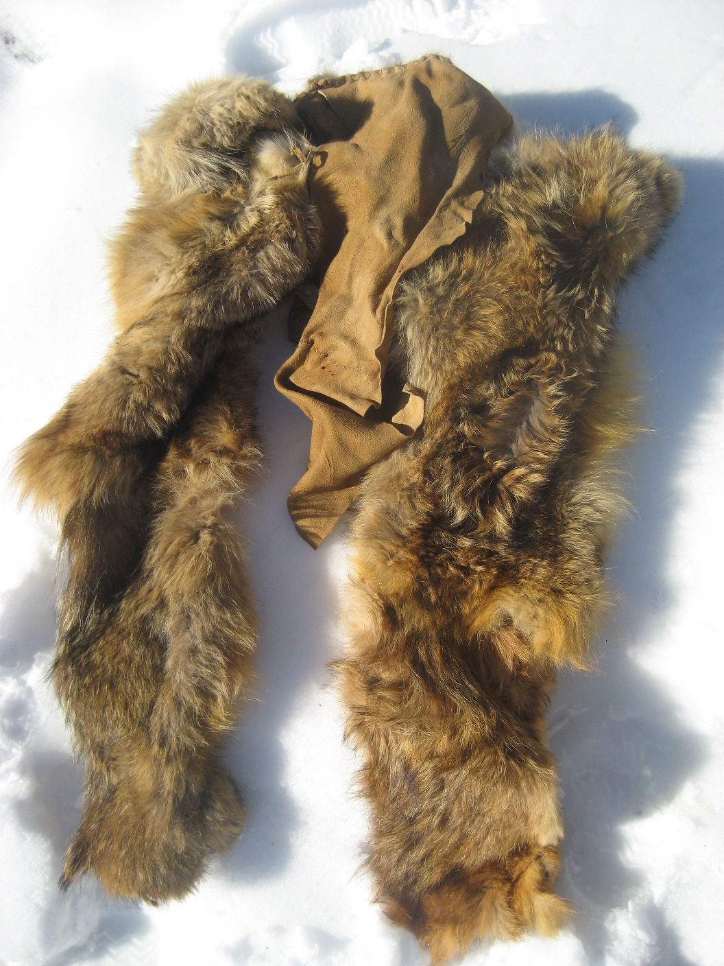Animal skins clothing